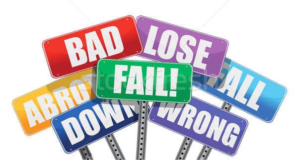 bad result signs concept illustration design Stock photo © alexmillos