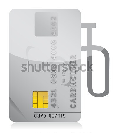 credit card rejected illustration design over white Stock photo © alexmillos
