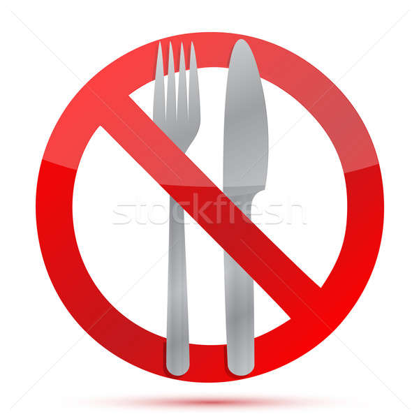 No food allowed sign over a white background Stock photo © alexmillos