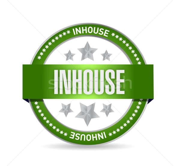 Inhouse seal stamp illustration design Stock photo © alexmillos