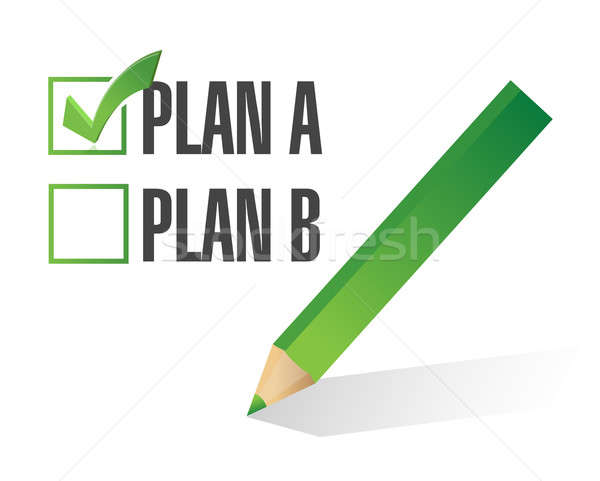 Plan gekozen illustratie ontwerp witte business Stockfoto © alexmillos