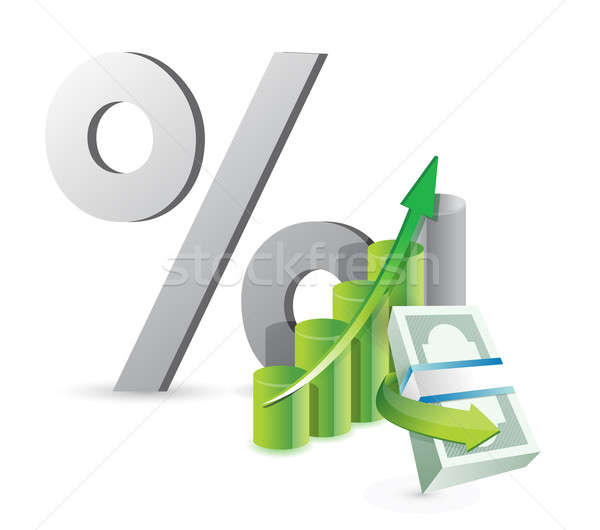 financial business concept illustration design over a white back Stock photo © alexmillos