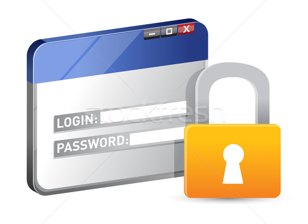 Secure website login using SSL protocol  Stock photo © alexmillos