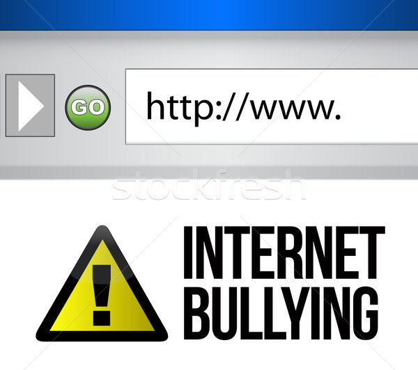 Browser with an internet bullying concept  Stock photo © alexmillos