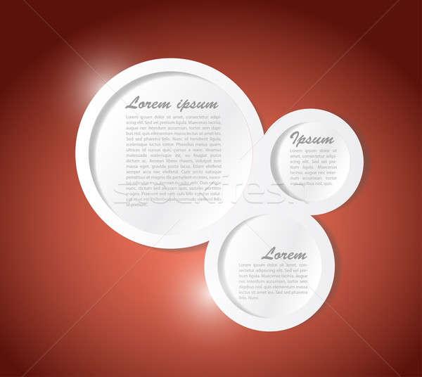 Text communication bubbles template illustration Stock photo © alexmillos