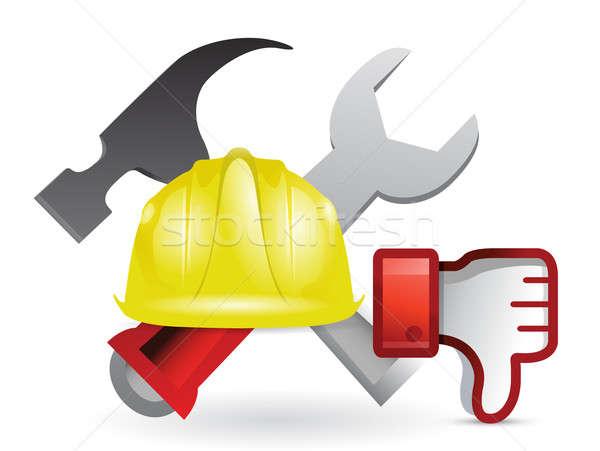 Antipatia costruzione segno illustrazione design bianco Foto d'archivio © alexmillos