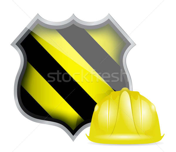 Protection shield under construction  Stock photo © alexmillos