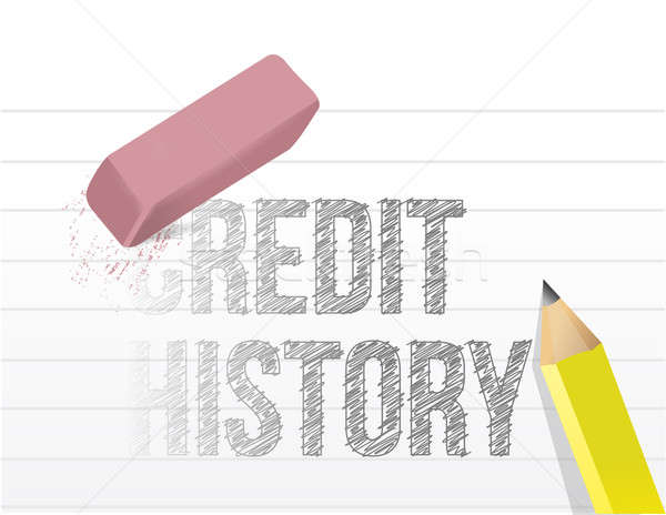 Erasing your credit history concept  Stock photo © alexmillos