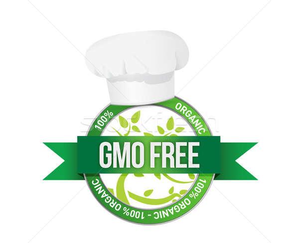 free genetically modifies plants sign illustration design Stock photo © alexmillos