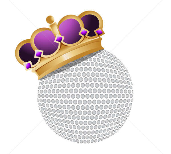 Golf ball with a crown  Stock photo © alexmillos