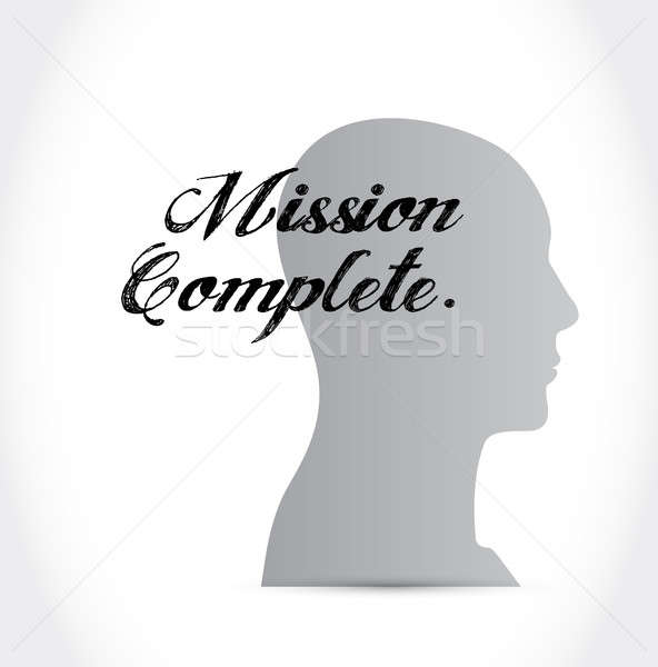 Mission esprit signe illustration design Photo stock © alexmillos