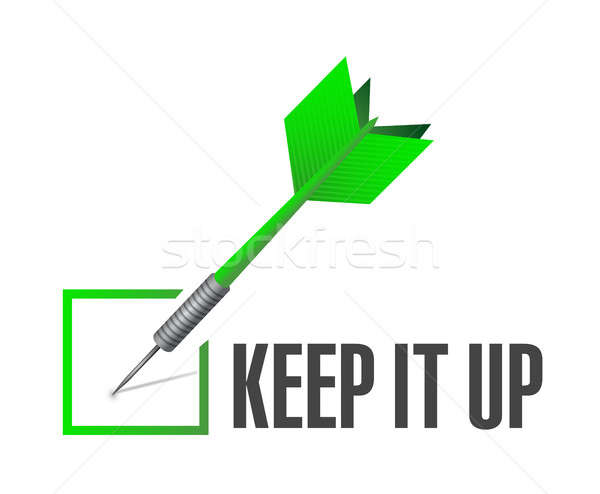 Keep it up check dart sign concept illustration Stock photo © alexmillos