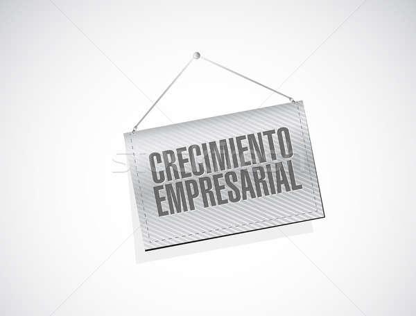 Stock photo: Business Growth banner sign in Spanish.