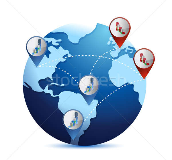 globe with international economy situations Stock photo © alexmillos