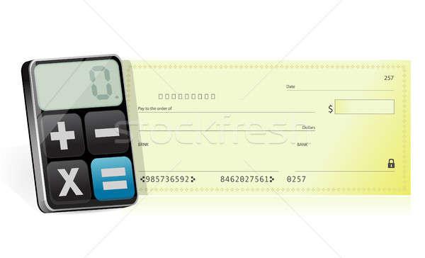 Modern hesap makinesi örnek dizayn beyaz kitap Stok fotoğraf © alexmillos