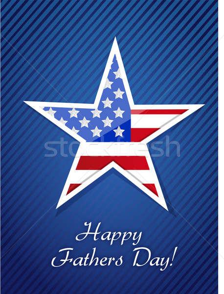 Patriotyczny szczęśliwy dzień ojca dumny karty ilustracja projektu Zdjęcia stock © alexmillos