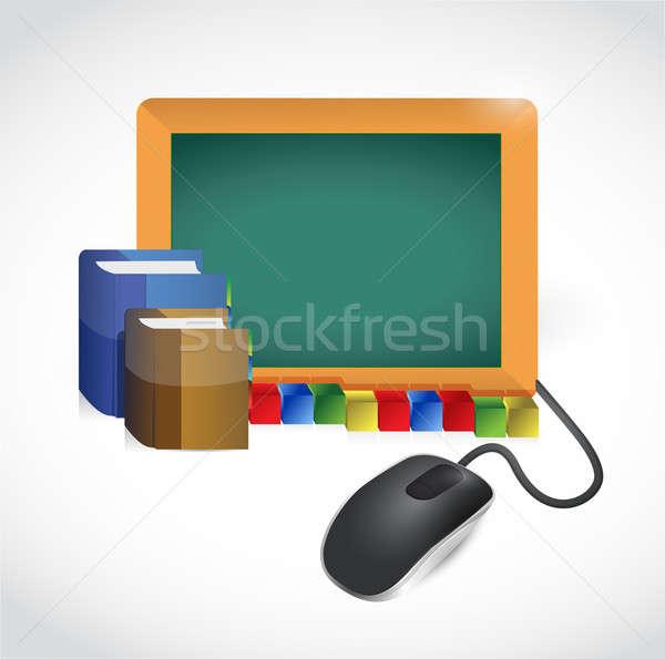 Eğitim imzalamak fare örnek dizayn beyaz Stok fotoğraf © alexmillos