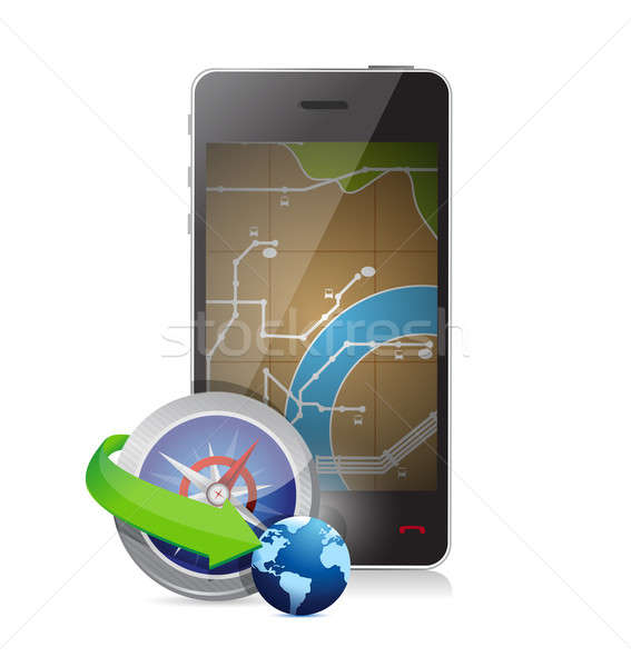 Stock photo: searching for a destination illustration