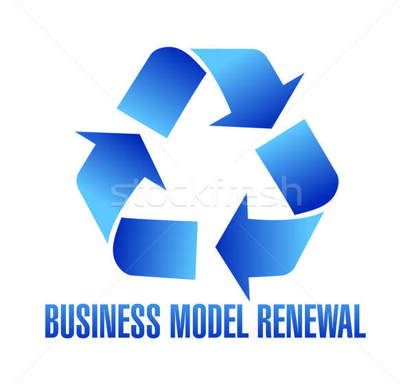business model renewal illustration Stock photo © alexmillos