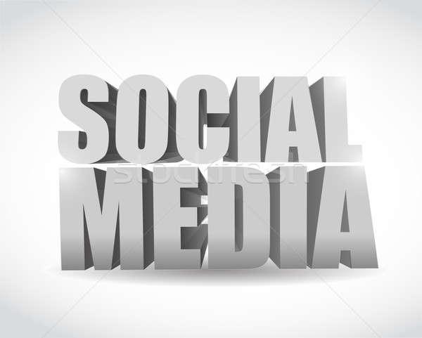 social media text illustration design Stock photo © alexmillos