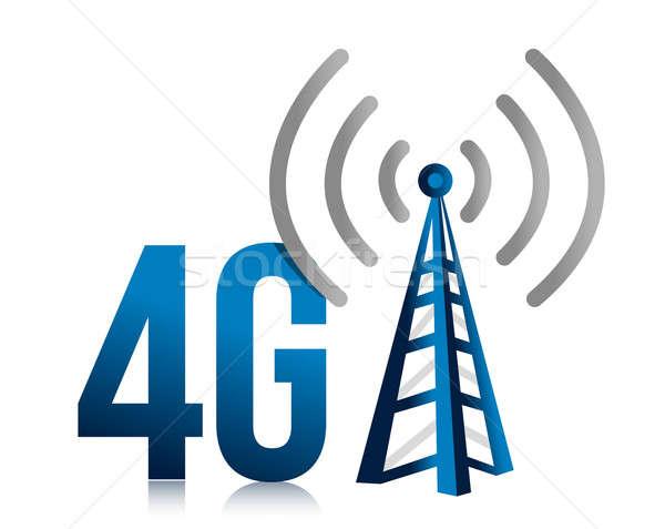 4g скорости башни связи иллюстрация дизайна Сток-фото © alexmillos