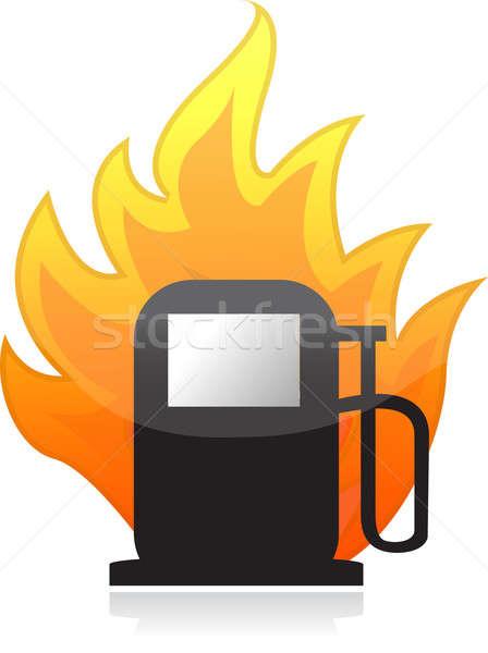 огня иллюстрация дизайна белый власти Сток-фото © alexmillos