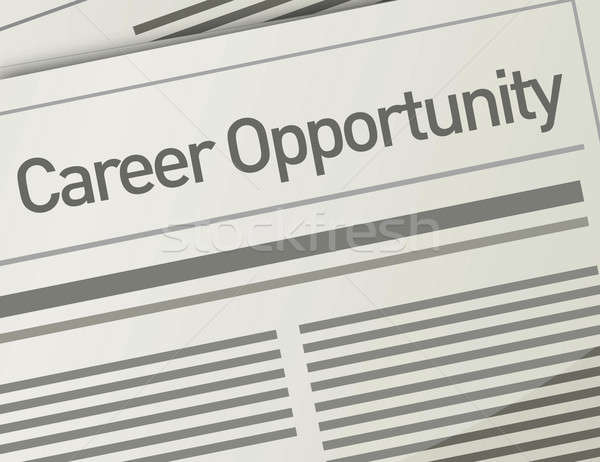 newspaper Career Opportunity ad, Employment concept Stock photo © alexmillos