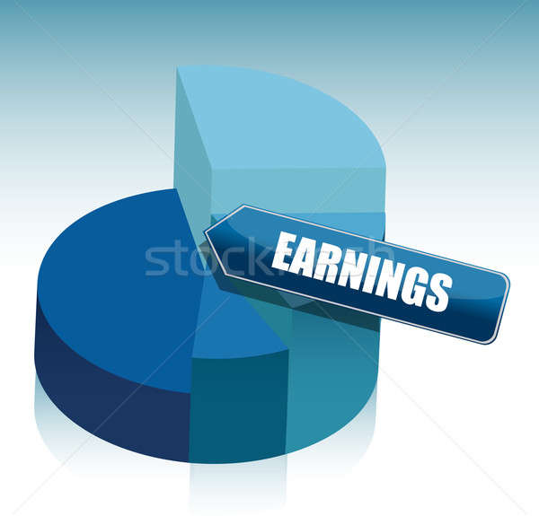 pie chart earning illustration design on gradient background Stock photo © alexmillos