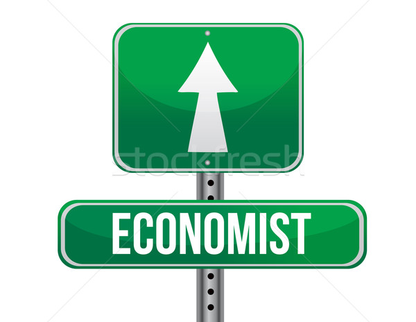 economist road sign illustration design over a white background Stock photo © alexmillos