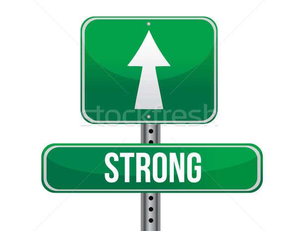 Strong road sign illustration design Stock photo © alexmillos
