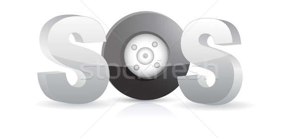 СОС автомобиль иллюстрация дизайна белый Сток-фото © alexmillos