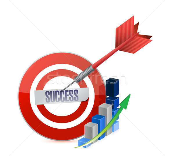 success target illustration design over a white background Stock photo © alexmillos