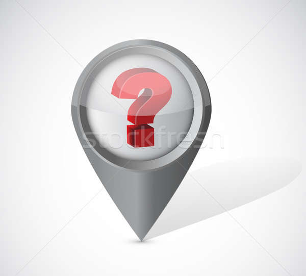 question mark pointer illustration over a white background Stock photo © alexmillos