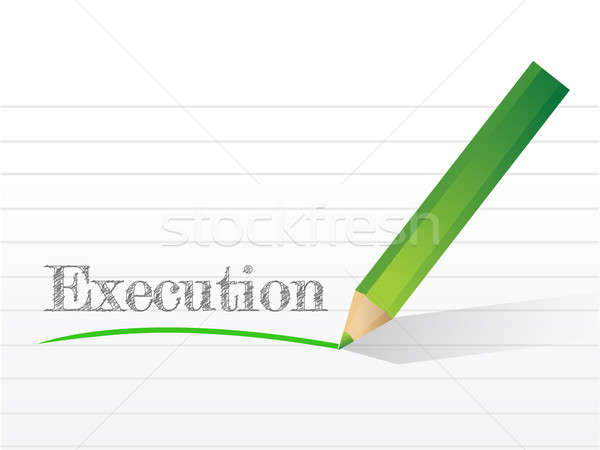 Execution written on a notepad paper Stock photo © alexmillos