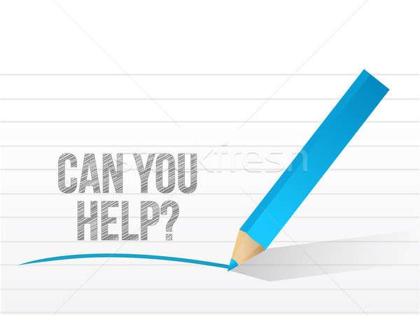 Konzerv segítség üzenet illusztráció terv kommunikáció Stock fotó © alexmillos