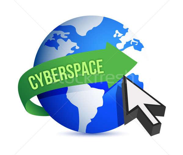 Blu mondo cursore cyberspazio mail comunicazione Foto d'archivio © alexmillos