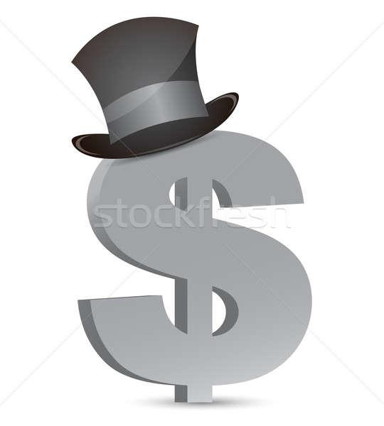 Dólar moeda seis negócio fundo financiar Foto stock © alexmillos