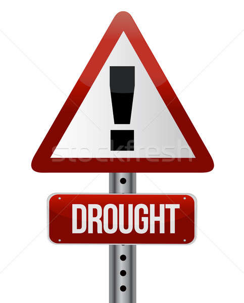 Road traffic sign with a drought concept  Stock photo © alexmillos