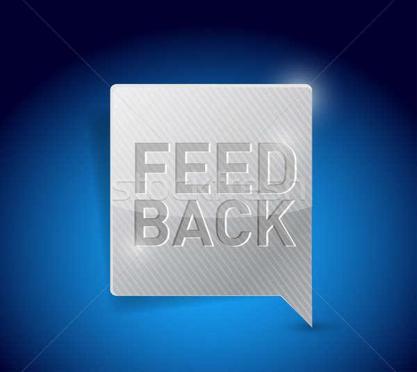 Feedback button pointer illustration  Stock photo © alexmillos