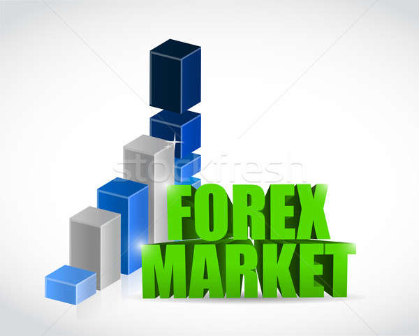 Forex marché graphe d'affaires illustration ordinateur argent Photo stock © alexmillos