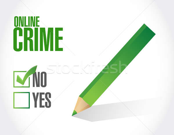 no online crime sign concept illustration Stock photo © alexmillos