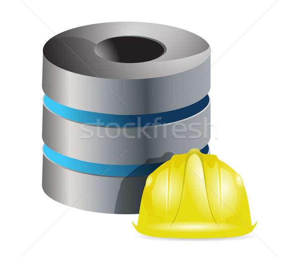 De trabajo servidor casco ilustración diseno blanco Foto stock © alexmillos