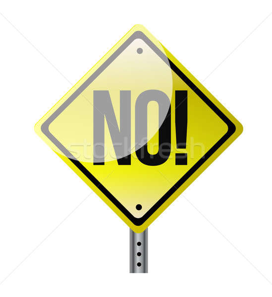 Illustration depicting a sign with a no concept. Stock photo © alexmillos