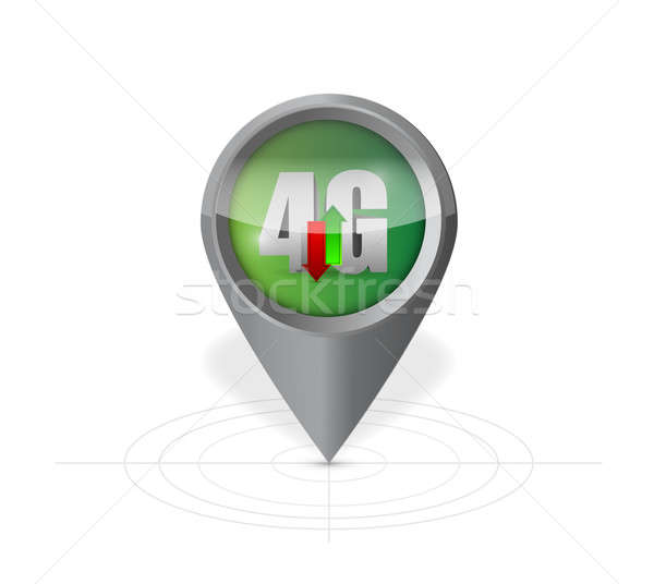 4g pointer locator illustration design Stock photo © alexmillos
