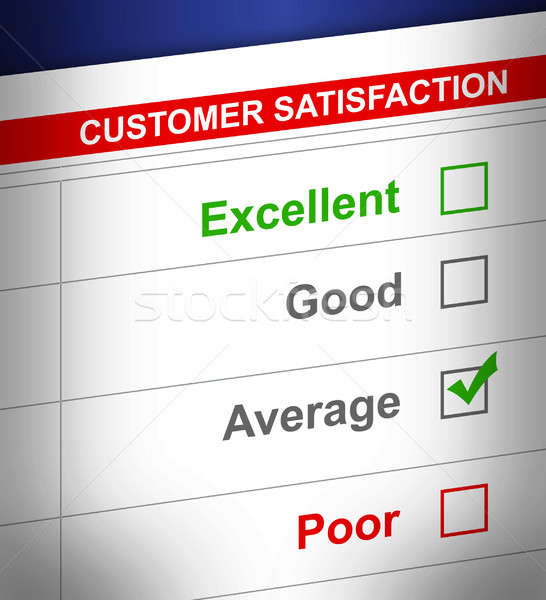 customer service survey with average selected. illustration desi Stock photo © alexmillos