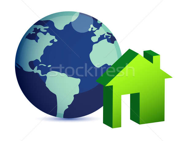 Worldwide Properties on white background Stock photo © alexmillos
