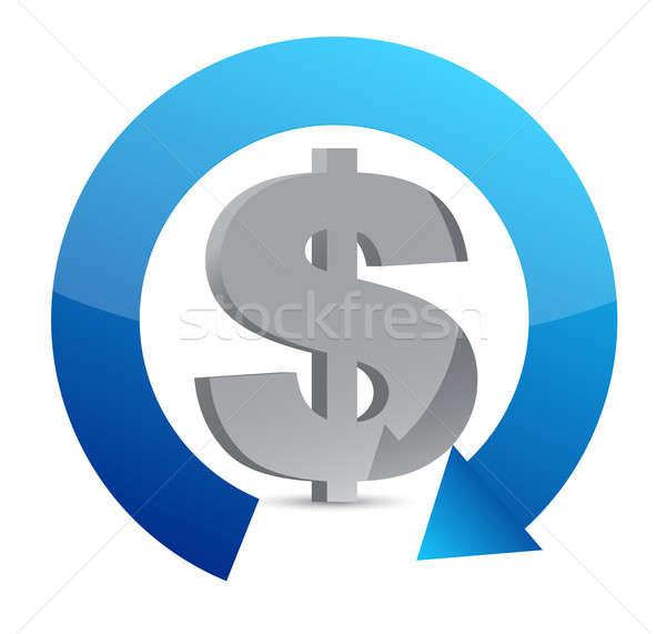 Dólar moeda ciclo ilustração projeto negócio Foto stock © alexmillos