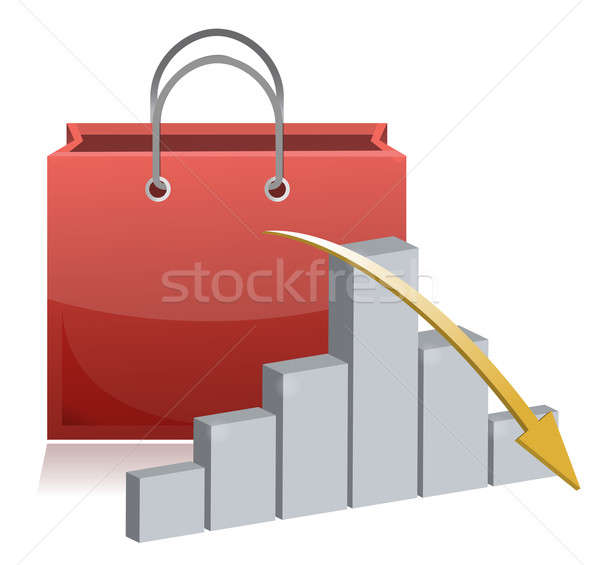 falling shopping sale illustration concept Stock photo © alexmillos