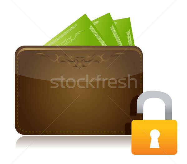 unsafe money concept illustration design over white Stock photo © alexmillos