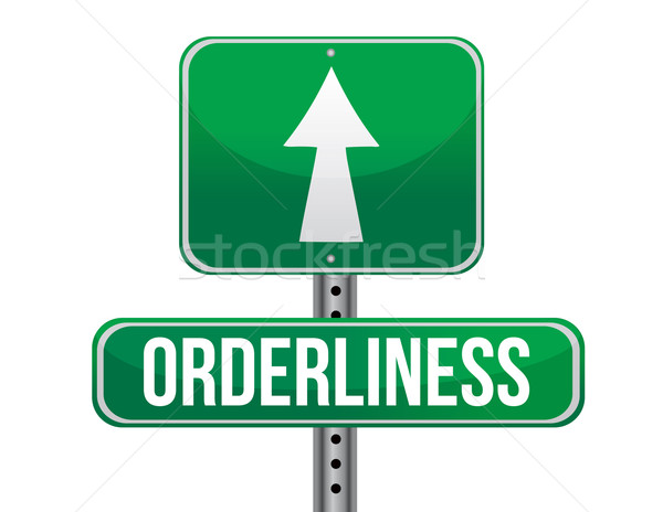 Orderliness road sign illustration design Stock photo © alexmillos